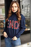 Donna-M Теплый свитер с высоким горлом V 98, фото 1