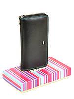 Женский кошелек из кожи Rainbow WRS-2 black, фото 1