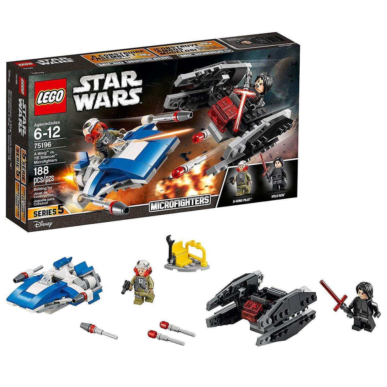 Lego Star wars 75196 Винищувач типу A проти винищувача СІД (Конструктор Лего Старварс Истребитель типа A)