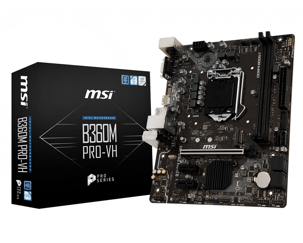 "Материнская плата MSI B360M Pro-VH Socket 1151v2  DDR4 ""Over-Stock"" Б/У"