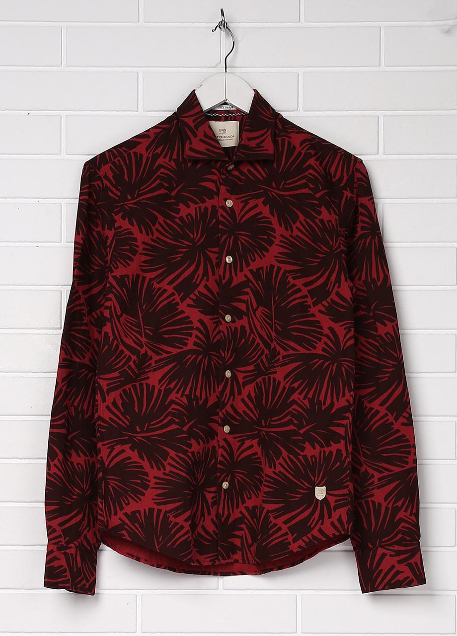 Рубашка мужская Scotch & Soda цвет красно-коричневый размер S арт 1602.11.20060
