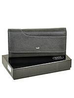 Большой женский кожаный кошелек WS-1 grey, фото 1