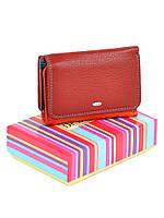 Женский кошелек на кнопке Rainbow WRS-4 red, фото 1