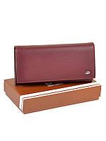 Большой женский кошелек из иск. кожи W501 dark-red, фото 1