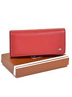 Большой женский кошелек из иск. кожи W501 red