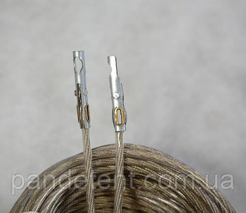 Трос пломбировочный  тента 30 м с наконечниками в оплетке, фото 2