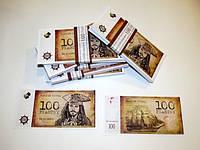 Хит! Деньги Сувенир Пиратские 100 Пиастры 80 шт/уп, муляж