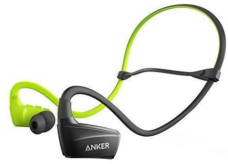 Наушники ANKER SoundBuds Sport NB10 Черный/Зеленый, фото 2
