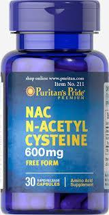 Puritan's PrideN-ацетилцистеинNAC N-Acetyl Cysteine30 caps