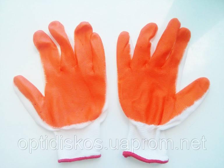 Перчатки (стрейч, оранжевые)