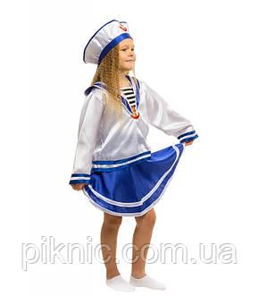 Дитячий карнавальний костюм для дівчинки Морячка 5,6,7,8,9 років 344, фото 2