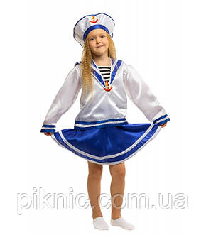 Костюм Морячка для девочки 4, 5, 6, 7, 8, 9 лет. Детский карнавальный маскарадный, фото 2
