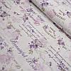 Ткань декоративная с тефлоновой пропиткой Прованс с надписями и розами