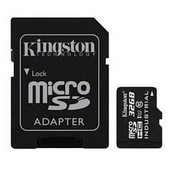 Картка памяті microSDHC 32 Gb Kingston class 10 UHS-I Industrial + SD (SDCIT/32GB)