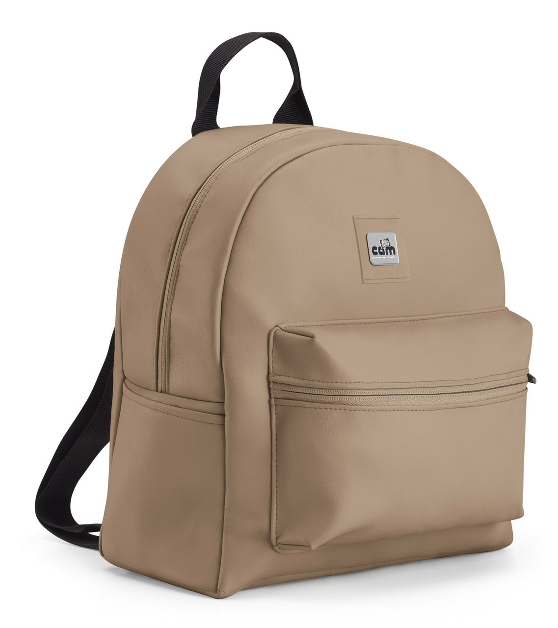 Рюкзак для мамы на коляску CAM Beki бежевый кожа