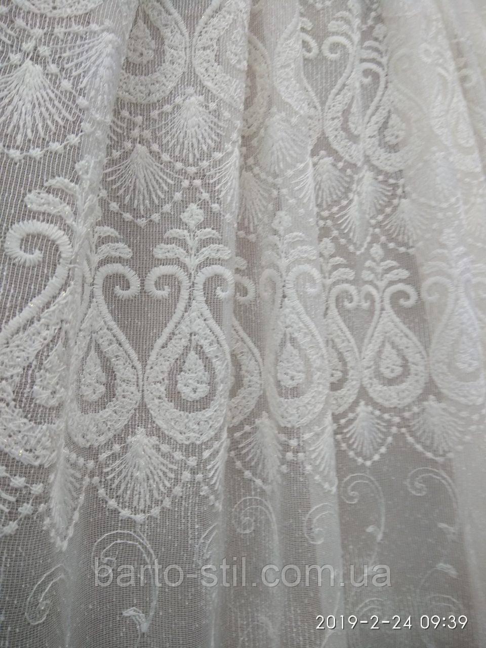 Гардина из льна с вышивкой Высота 2. 8 м