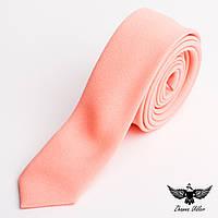 Галстук персикового цвета