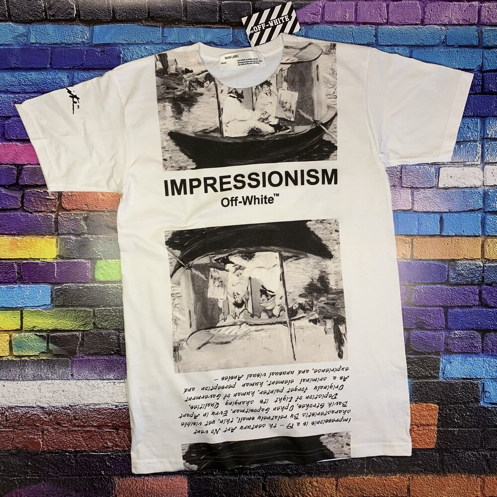 Мега Футболка OFF WHITE Impressionism • NEW
