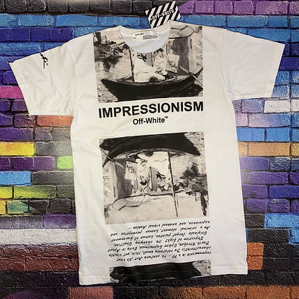 Мега Футболка OFF WHITE Impressionism • NEW, фото 2