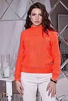 Donna-M Короткий оранжевый свитер V 122, фото 1