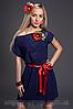 Платье женское модель №436-2, размеры 42-44,46-48 т. синее ( А.Н.Г.)