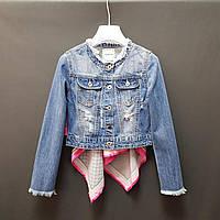 Брендовый джинсовый пиджак на девочку производство Италия
