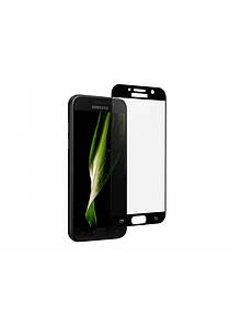 5D Full Glue скло фірми GLASS для Samsung A520/A5 чорна рамка