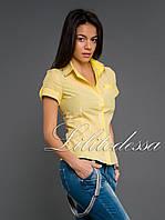 Рубашка клетка желтый, фото 1