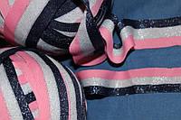 3 см.(широкая) лента трикотажная люрекс яркая  №1097, фото 1