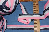 4 см.(широкая) лента трикотажная люрекс яркая  №1014, фото 1
