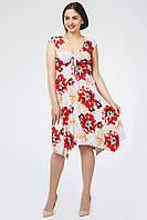 Donna-M Платье Мая (красный цветок) 10343