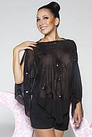 Donna-M Блуза Пайетка (черный) 10028/1