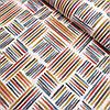 Ткань декоративная с тефлоновой пропиткой с разноцветными полосочками, ширина 180 см