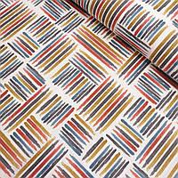 Ткань декоративная с тефлоновой пропиткой с разноцветными полосочками, ширина 180 см, фото 1