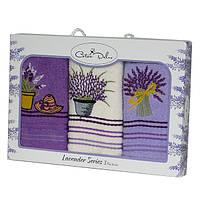 Набор полотенец для кухни Gursan Lavender 30*50см 3шт