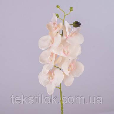 Орхидея искусственная пудра-персик 80 см Цветы искусственные