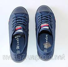 Женские - подростковые кеды Converse синие реплика 38р, фото 2