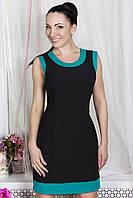 Donna-M Платье Бони (черный/бирюза) 10504, фото 1