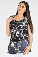 Donna-M Блуза Водопад (черный/белый принт) 11217