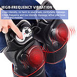 Масажер ортез на коліно, магнітно -вібраційні післяопераційні електрогрілка з прогрівальним ефектом, фото 4