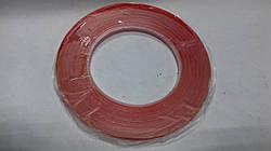 Скотч двусторонний 3M  длина 50м, ширина 0,5 см красный