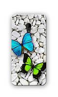 Чехол для HTC Desire 700 (Бабочки)