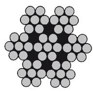 DIN 3055 (ГОСТ 3066-80) нержавеющий трос А4, плетение 7х7