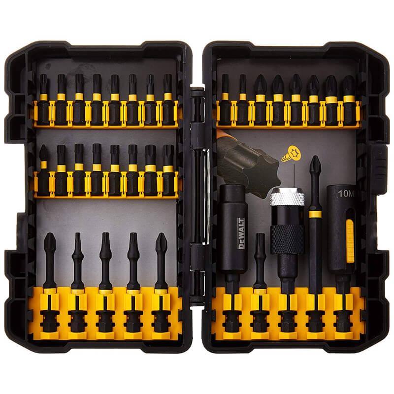 Набор бит IMPACT TORSION EXTREME 34 шт. с держателем бит и головками с выдвижными магнитами DeWALT DT70615T