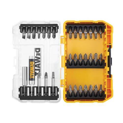 Набор бит 33 шт. с магнитным держателем бит в кейсе TOUGH CASE системы TSTAK DeWALT DT70709