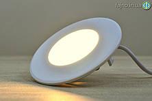Встраиваемый LED светильник  3 Вт (90 мм, круг)