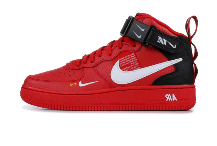 finest selection 9ea15 173d9 Мужские кроссовки Nike Air Force 1 Mid Utility Red Black (Реплика ААА+) 42