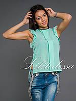 Блузка летняя мятная, фото 1