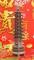 Фен-шуй Пагода 9 ярусов, в сером цвете (h=22 см.)
