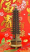 Пагода Фен-Шуй (девяти-ярусная), в бронзовом цвете (h=26 см.)